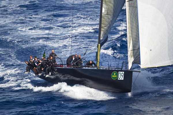 JETHOU, Bow n: 09, Sail n: GBR 74 R, Owner: Peter Ogden, Class: Mini Maxi  - Photo By: Rolex / Carlo Borlenghi