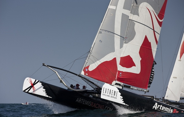 Artemis Racing competing in some pre-event race training - © Lloyd Images