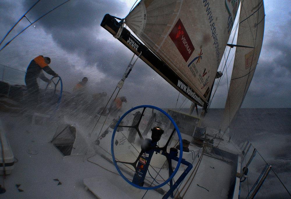 Segelyachten im sturm  Januar 2009