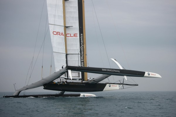 33rd America's Cup - BMW ORACLE Racing - First trials off Valencia - Photographer: Gilles Martin-Raget