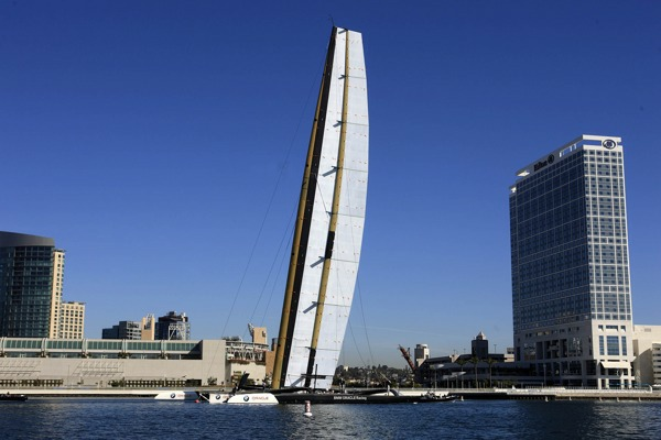 San Diego (USA, CA) - 33rd America's Cup - BMW ORACLE Racing - Wing revealed - Photocopyright:   Gilles Martin-Raget