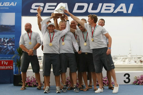 Team No Way Back gewinnt RC 44 Titel 2009 - Copyright Raffaello Bastiani / RC44 Class Association