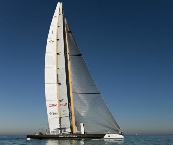 BMW ORACLE Racing - Valencia Training - Sail 3 - Photographer: Gilles Martin-Raget