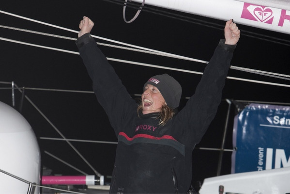 Sam completed the solo around the world non stop yacht race in 95 days 4 hours 39 mins 01 sec. Placing her in third overall - Photocredit: Lloyd Images