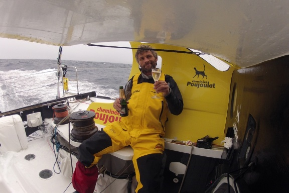VENDEE GLOBE 2012/2013 - PACIFIC OCEAN - 01/01/2013 - PHOTO BERNARD STAMM (SUI) / CHEMINEES POUJOULAT - HAPPY NEW YEAR 2013