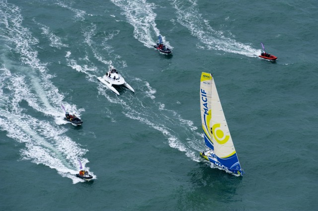 PHOTO OLIVIER BLANCHET / DPPI - VENDEE GLOBE FINISH FOR FRANCOIS GABART (FRA) / MACIF AFTER 78D