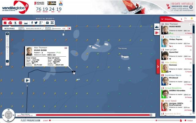 Screenshot Vendée Globe 2012-13 - Tag 76 - Hugo Boss und VP