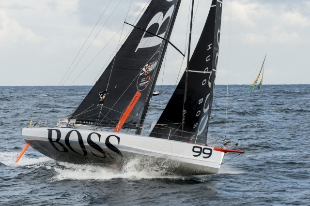 HUGO BOSS – VENDEE GLOBE 2012 – START – PHOTO / VINCENT CURUTCHET / DARK FRAME / DPPI / VENDEE GLOBE