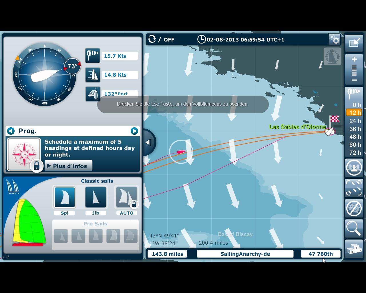 VG - Virtuelles Rennen - Die letzten 12 Stunden