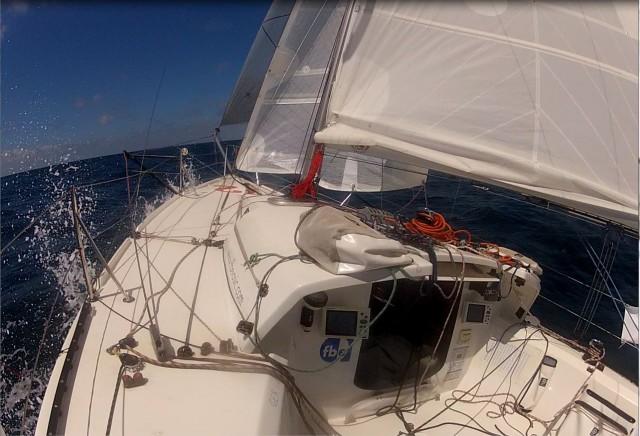 onboard auf dem Weg nach NW