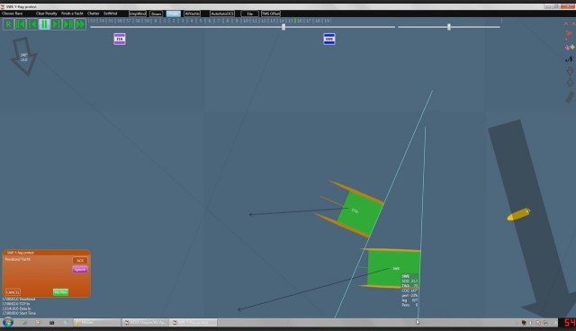 VLC 2013 - Rennen 4 - Vorstart - Berührung Artemis vs Luna Rossa - Aus dem Forum von SA.com