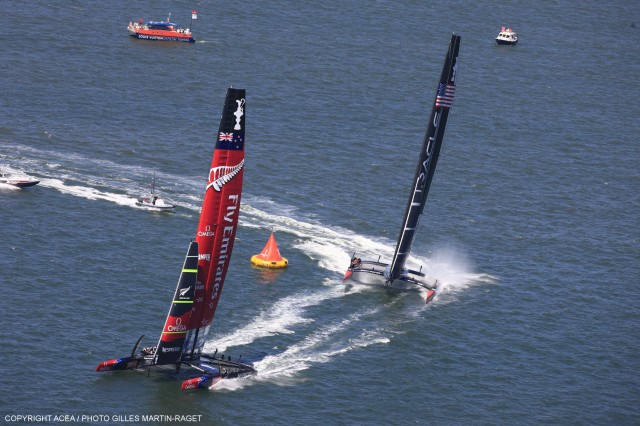 34th America's Cup - Oracle vs ETNZ; Day 1 Race 2 - Photo: ACEA / Gilles Martin-Raget