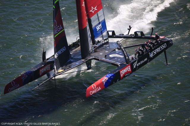 34th America's Cup - Oracle vs ETNZ; Day 1 Racing - Photo: ACEA / Gilles Martin-Raget