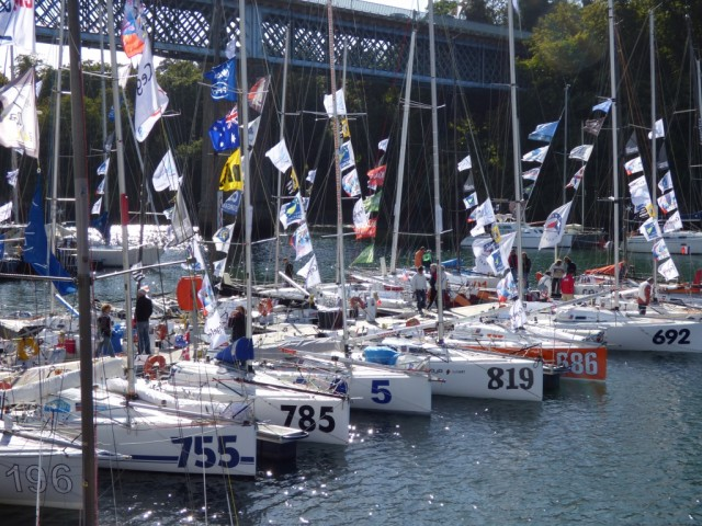 p1000181 - Mini Transat 2013 - Douarnenez - Starthafen - Photo: Mini Transat