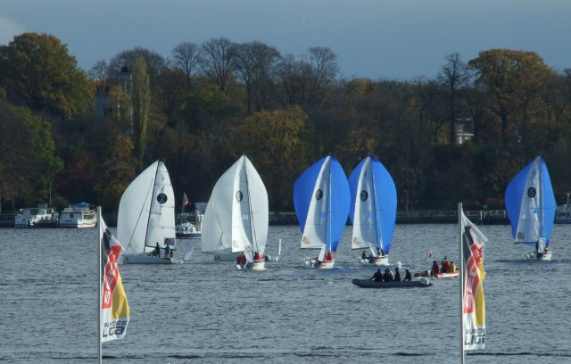SBL-B13-DW-alle-boote1 - SEGEL-BUNDESLIGA - Finale Berlin 2013 - Photocopyright: SailingAnarchy.de