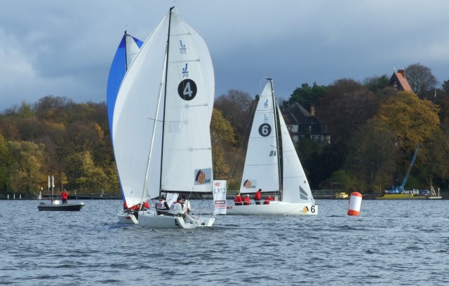 SBL-B13-Zieleinlauf1 - SEGEL-BUNDESLIGA - Finale Berlin 2013 - Photocopyright: SailingAnarchy.de