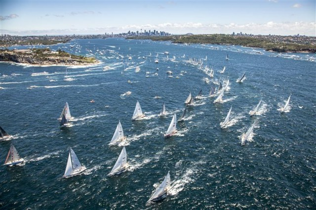 Spectacular Rolex Sydney Hobart Race start - Photo By: Rolex / Daniel Forster