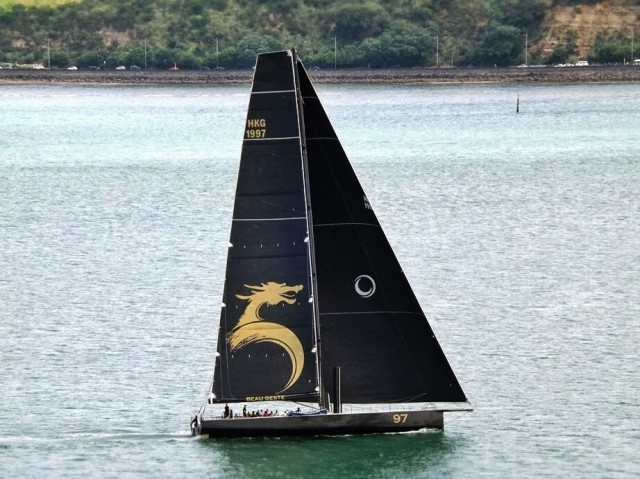 The brand new Beau Geste leaves Auckland and heads to Sydney. Photo copyright Darren McManaway / LiveSailDie.com