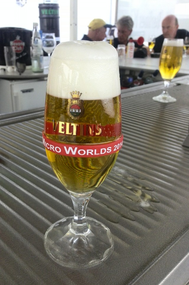 Micro Cupper WM 2014 - well deserved beer - Photo © SailingAnarchy.de