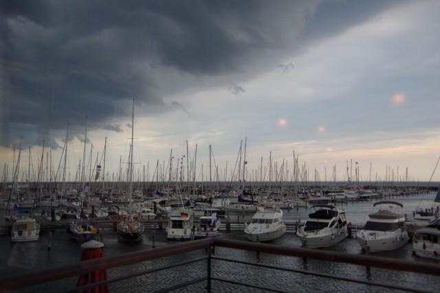 Warnemünder Woche 2014 - Gewitterfront über Yachthafen Hohe Düne - Photo © SailingAnarchy.de