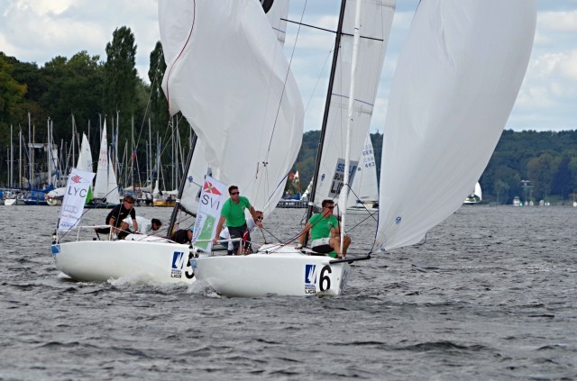 Segel Bundesliga 2014 - VSaW Berlin - Downwind in der Halse - Photo © SailingAnarchy.de