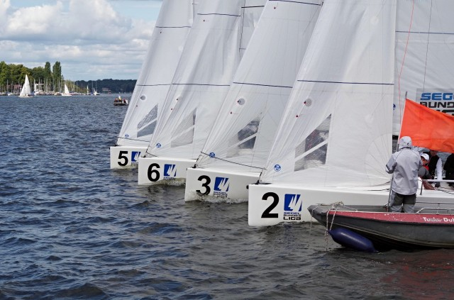 Segel Bundesliga 2014 - VSaW Berlin - Enge Starts - Photo © SailingAnarchy.de