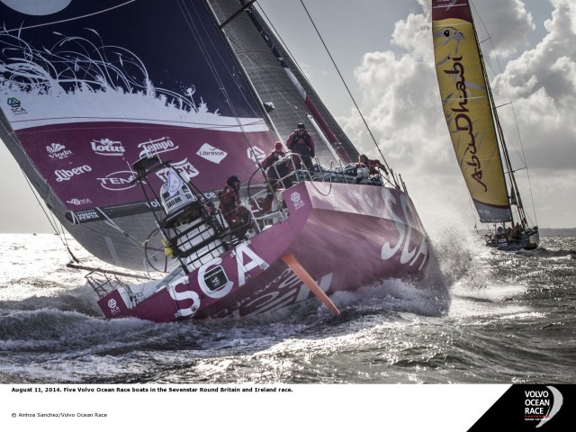 Round Britain and Ireland Race 2014 - Volvo Ocean 65 - Start - Photo © Ainhoa Sanchez/Volvo Ocean Race