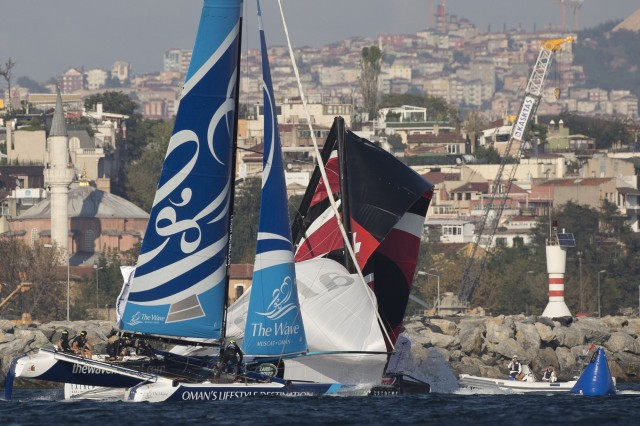 Act 6, Istanbul 2014 - Day One - Alinghi - We pushed a little too hard - Photo © Lloyd Images
