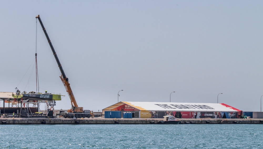 Kleine Werft für sieben Boote: der zentrale Boatyard