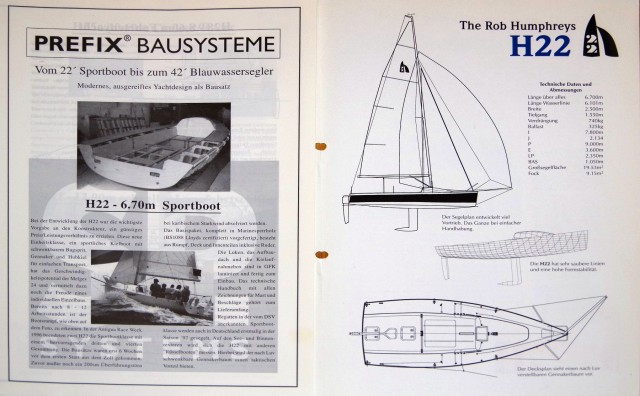 Humphreys H22 - SP System Prospekt aus 1997 - Photo © SailingAnarchy.de