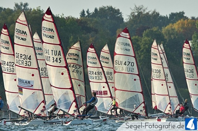 Musto Skiff - German Open 2014 - Ammersee - Photo © Sven Lamprecht / Musto Skiff KV