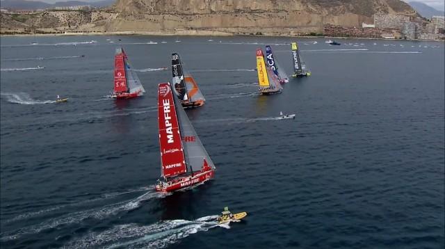 Volvo Ocean Race 2014/15 - Leg 1 - Start Alicante - Screenshot © VOR