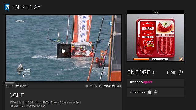 Replay der TV Liveberichterstattung Start der Regatta Route du Rhum vom 02.11.2014 - © Tele France 3