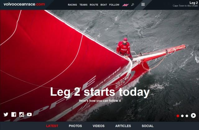 VOR 2014/15 - Kapstadt - Start 2. Etappe - Screenshot © VOR