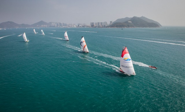 VOR 2014-15 - Start Leg 4 - Sanya - Image cr​edit: Ai​nhoa San​chez/Vol​vo Ocean​ Race