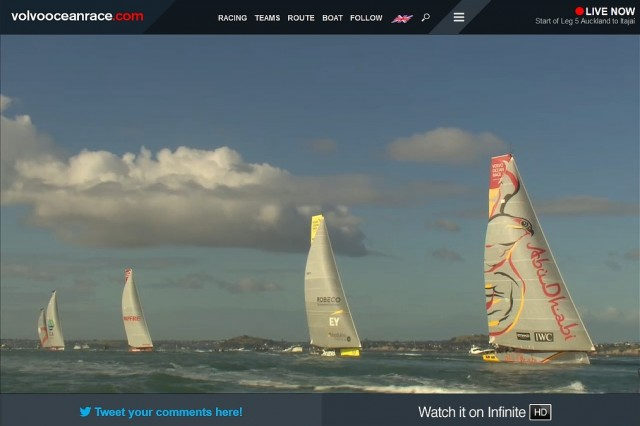 VOR - Leg 5 - Start - Screenshot © VOR Race