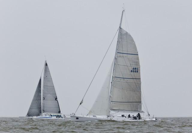 Nordseewoche 2015 - Kampf der Giganten: Opal (links) und Calypso (rechts). Foto: Hinrich Franck