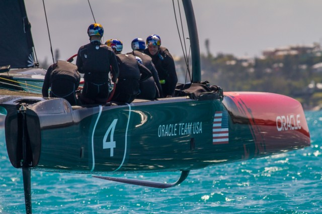 ORACLE TEAM USA became the first America's Cup team to sail an AC45S boat on the Great Sound in Bermuda - Photo © ORACLE TEAM USA
