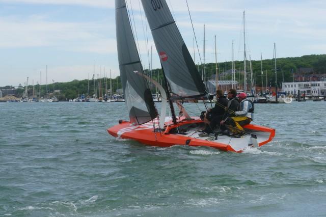 Q23 Mono Foiler vor der Isle of Wright - Photo © Quantboats 2015