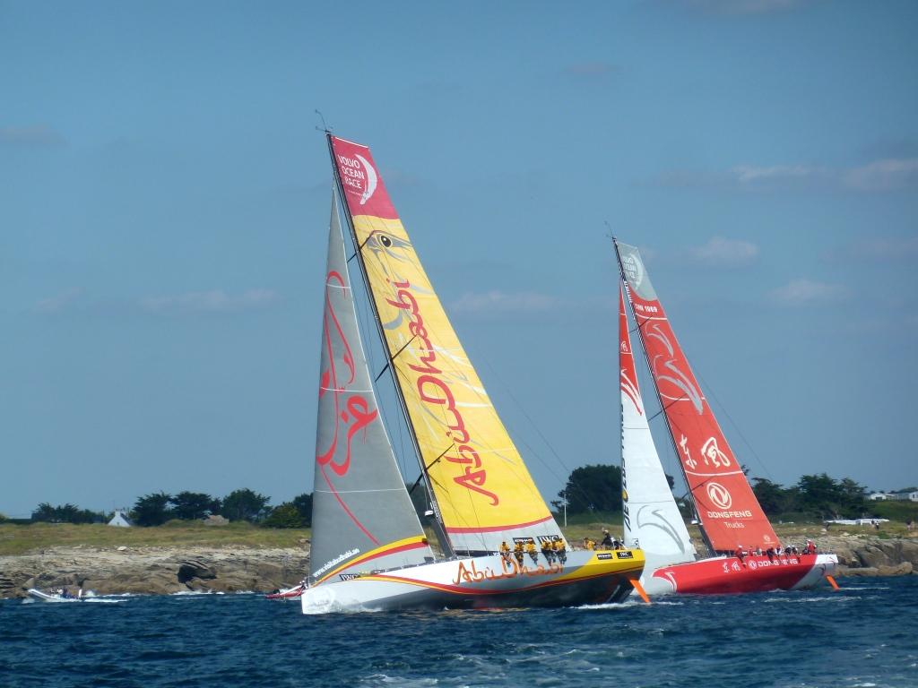 Die zweite Gruppe fand näher an der Küste ihren Wind