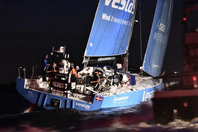 Team VESTAS - Zielankunft in Lorient - 2. der 8. Etappe von Lissabon nach Lorient - Photo © Ricardo Pinto / Volvo Ocean Race 2015