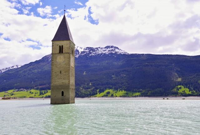 Kirchturm Alt-Graun - Reschensee 2014 - Photo © SailingAnarchy.de 2015