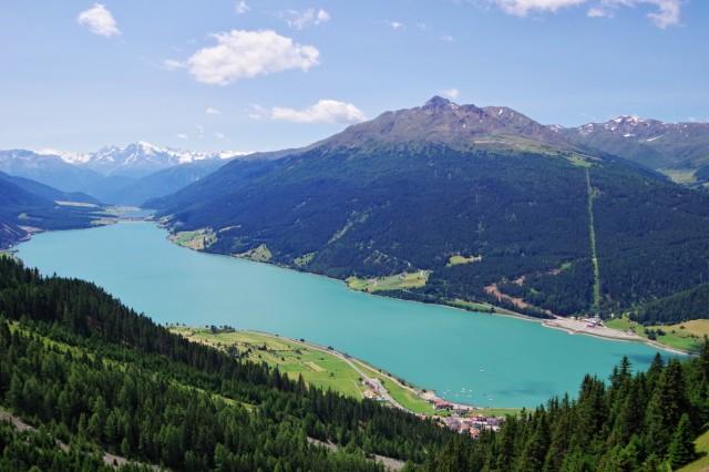 Reschensee aus 2.000 m Höhe - Photo © SailingAnarchy.de 2015