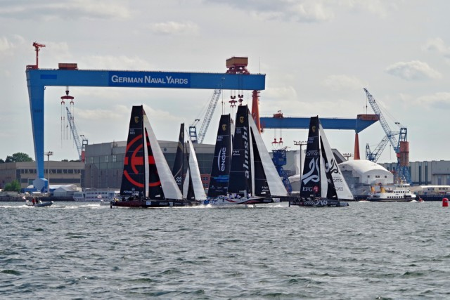 GC32 Kiel - Flotte vor Werftkran - Photo © SailingAnarchy.de 2015