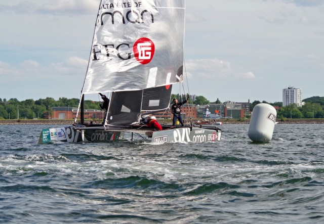 GC32 Kiel Oman - Annäherung ans Gate - Photo © SailingAnarchy.de 2015