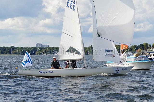 Europameisterschaft 2015 im Soling - GER 333 - Schümann, Flach, Jäkel - YCBG - Finaltag - WF 9 - Photo © SailingAnarchy.de 2015