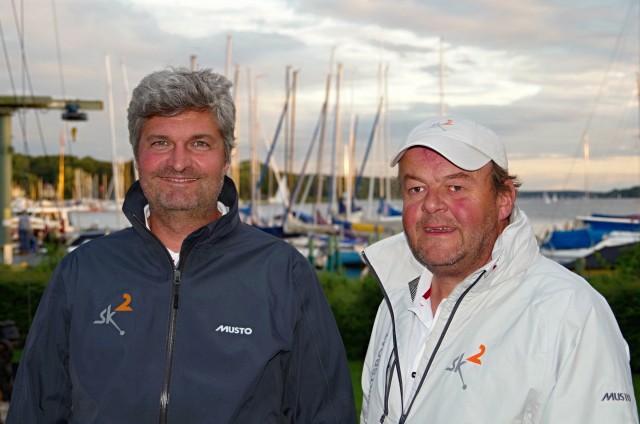 Ingnacio und Roel von Swing Keel Sailing Ltd, die Macher hinter der SK² in am 10.09.2015 im SC Gothia in Berlin.