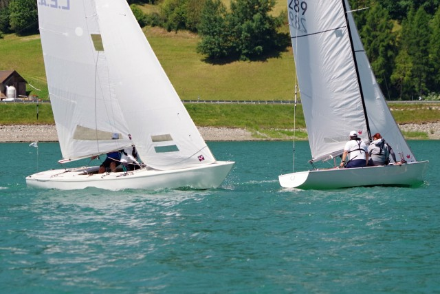 Soling Clinic am Reschensee - Training mit Profi Roman Koch - Photo © SailingAnarchy.de 2015