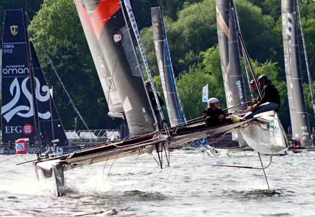 GC32-Armin_Strom-Foil-und-Ruderblatt - Kiel 2015 - Photo © SailingAnarchy.de