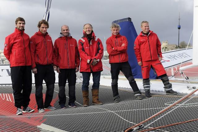 IDEC Sport - Crew für Jules Verne Trophy 2016 - Photo Francois Van Malleghem / DPPI / IDEC Sport